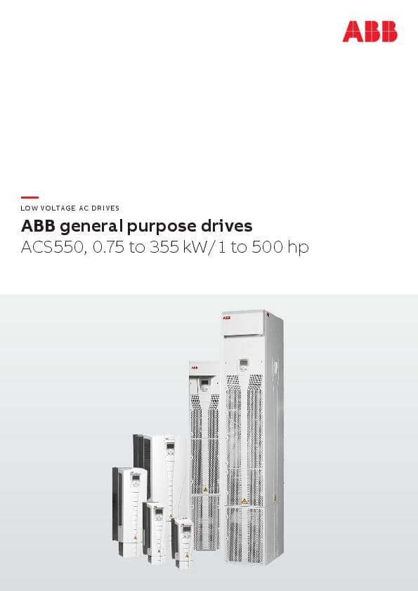 ABB general purpose drives ACS550