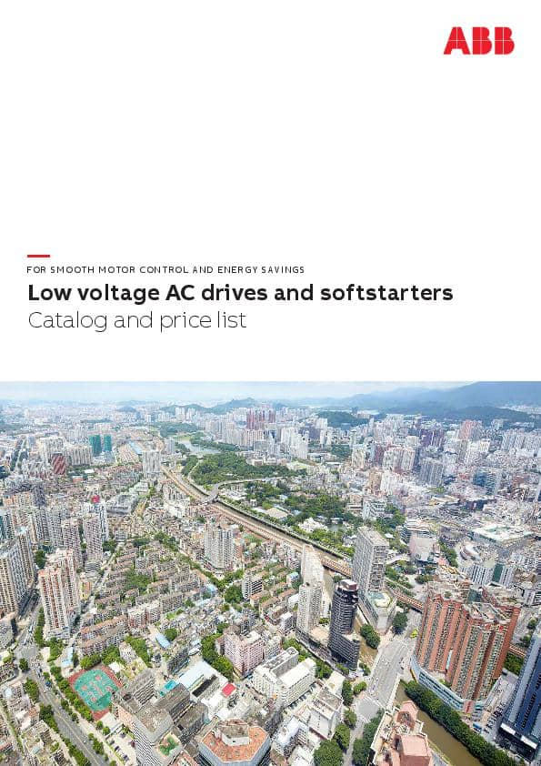 Low voltage AC drives and softstarters